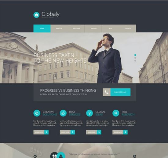 Free Globaly WordPress Business Theme