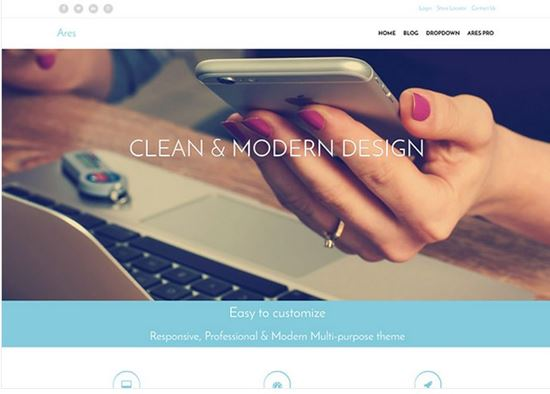 Ares Free Business WordPress Theme