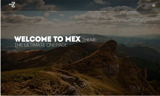 Mex – Minimal One Page WordPress Theme