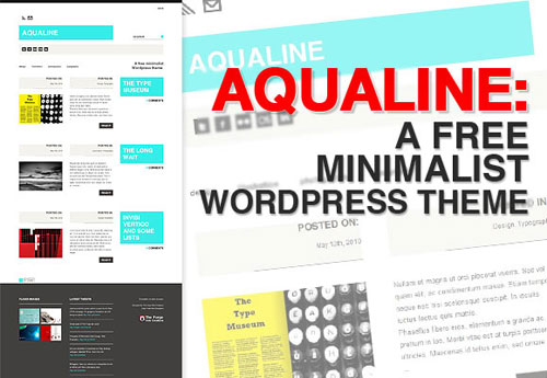 Aqualine: A Free Minimalist WordPress Theme
