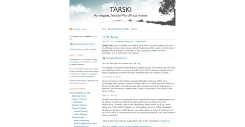 Tarski WordPress Theme