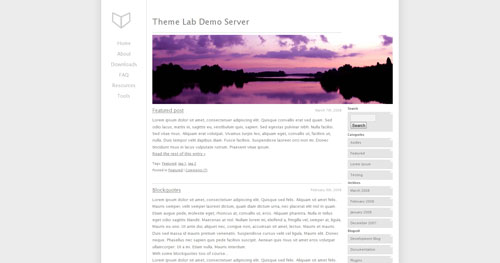 Just Lucid WordPress Theme
