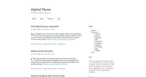 Hybrid WordPress Theme