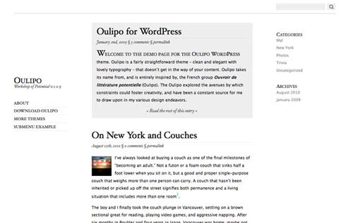 Oulipo WordPress Theme