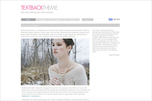 Textback WordPress Theme