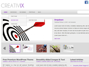 free wp creativix business wordpress theme