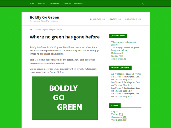 free boldly get green business wordpress theme