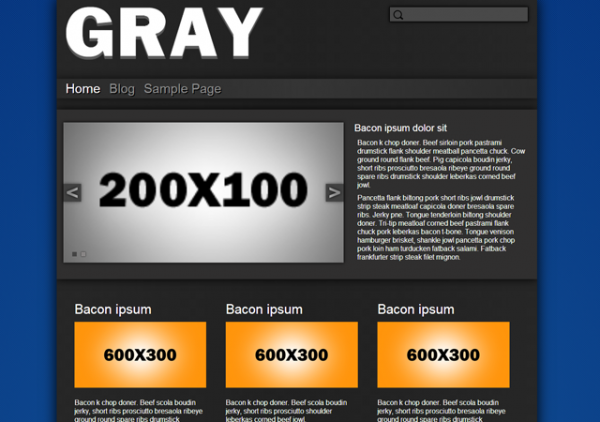 free gray base plate business wordpress theme