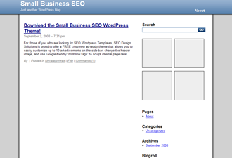 free tiny business search engine optimization business wordpress theme