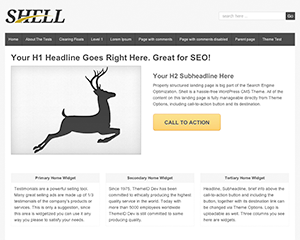 free shell lite business wordpress theme