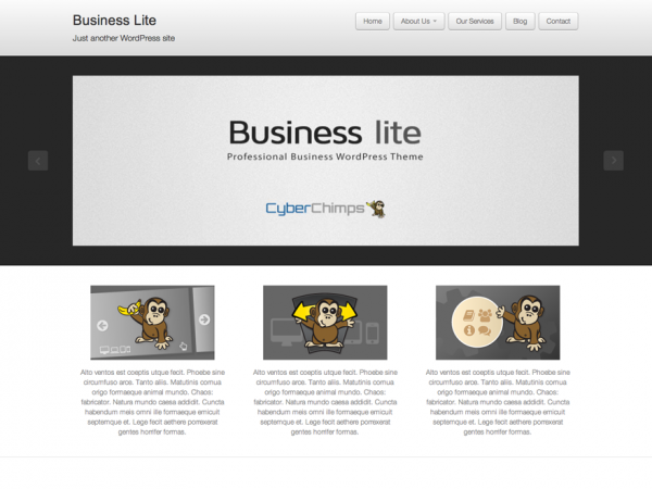 free business lite business wordpress theme