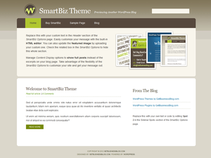 free smartbiz business wordpress theme
