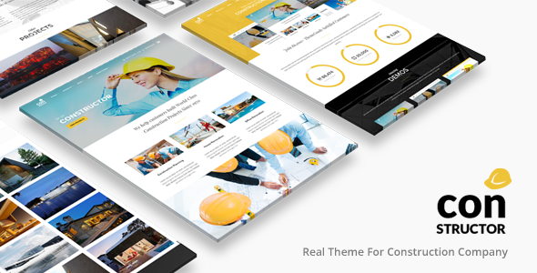 constructor construction building company theme