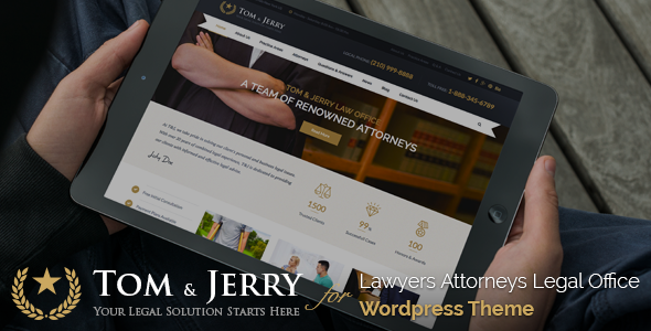 tom jerry a wordpress law and business theme