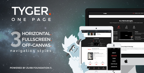 tyger clean corporate wordpress theme