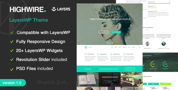 highwire layerswp business wordpress theme