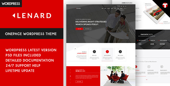 lenard onepage business responsive wp theme
