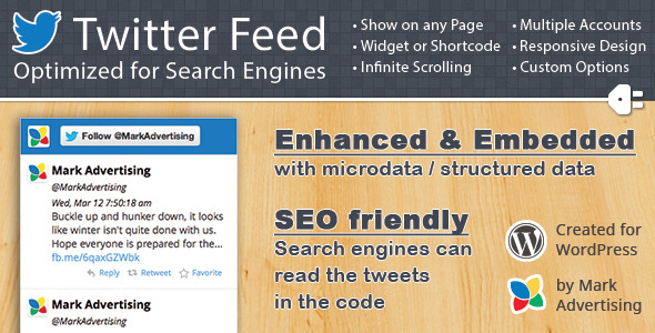 twitter feed optimized for search engines screenshot
