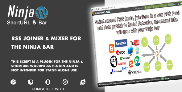 rss joiner  mixer for the wordpress ninja bar screenshot