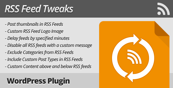 rss feed tweaks wordpress plugin screenshot