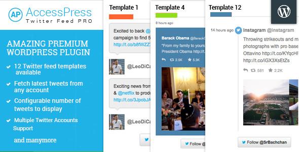 accesspress twitter feed pro screenshot