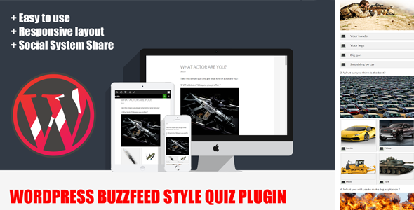 wordpress buzzfeed style quiz plugin screenshot