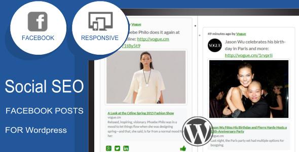 social seo facebook responsive timeline feed screenshot