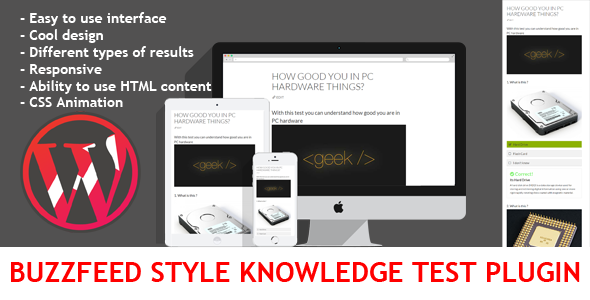 wordpress buzzfeed style knowledge test plugin screenshot
