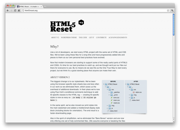 html5 reset screenshot