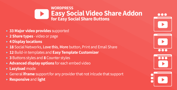 easy social video share addon for essb