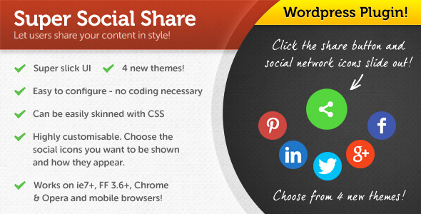 jquery extremely social share for wordpress