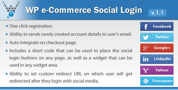 wp ecommerce social login