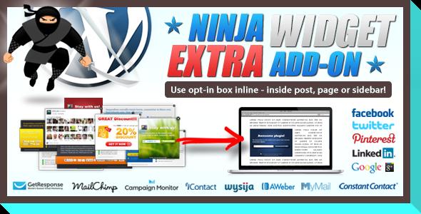 ninja widget extra addon