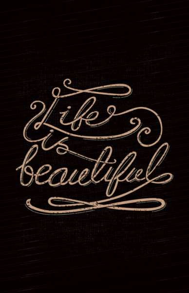 life is gorgeous lettering screenshot