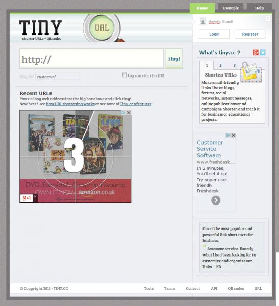 tiny.cc url shortener