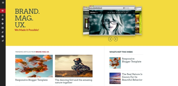 brand magazine blogger template