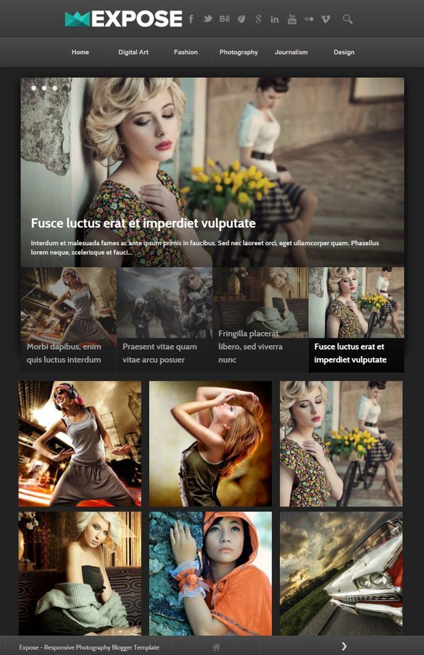 expose magazine blogger template