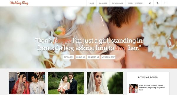 wedding blogger template