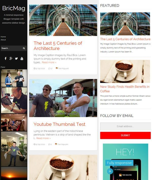 bricmag magazine blogger template