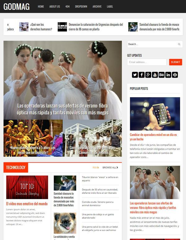 godmag magazine blogger template