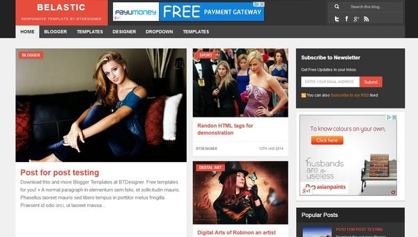 belastic magazine blogger template