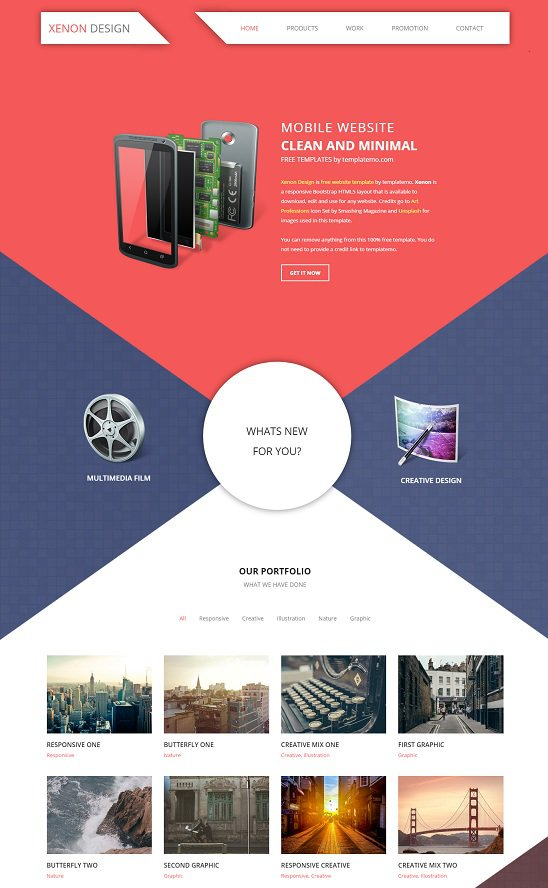 xenon design template by template