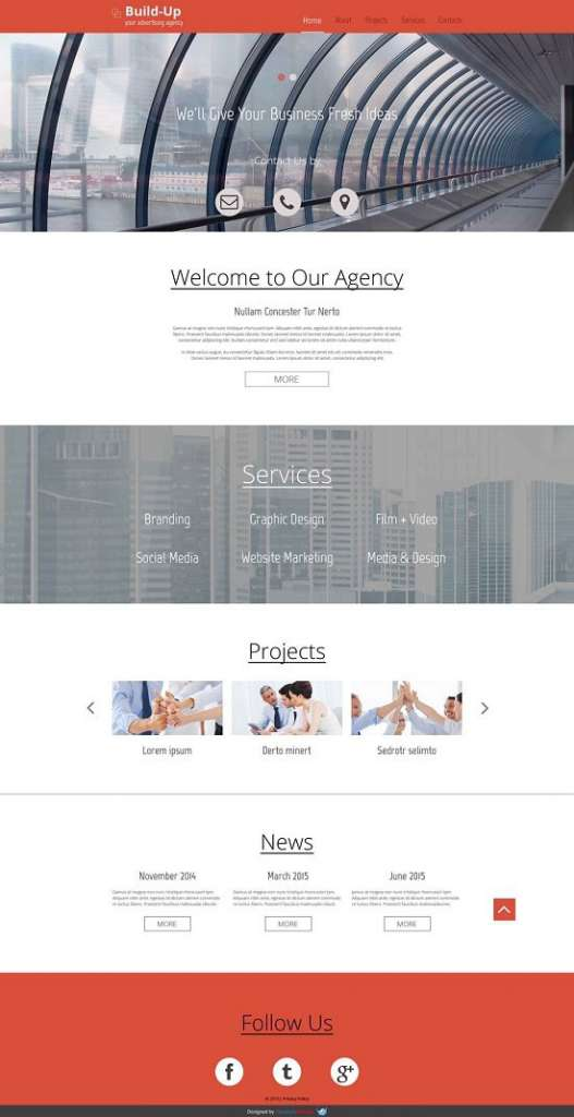 free responsive business template