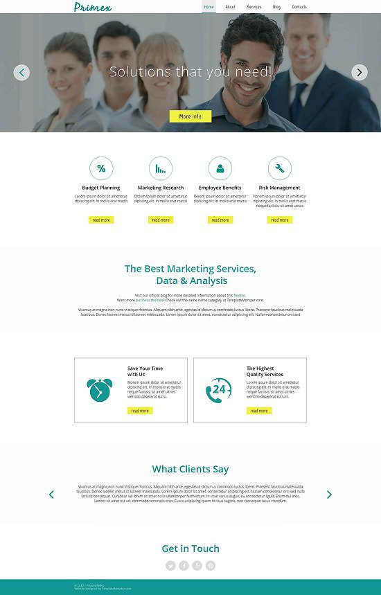 free website theme for marketing agency