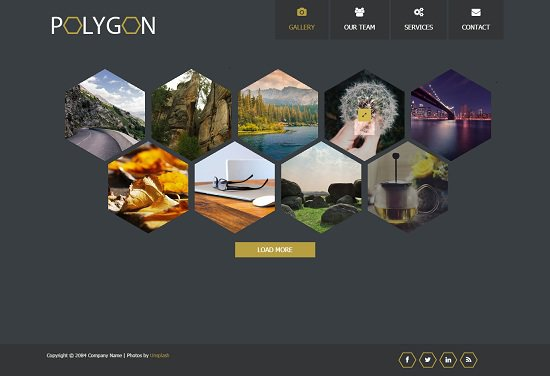 polygon website template