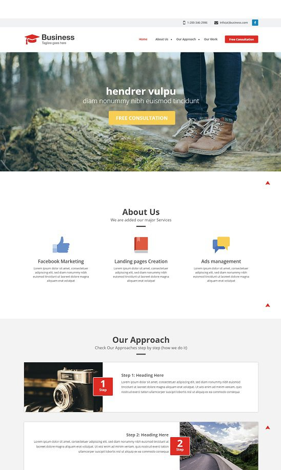 agency business a singlepage bootstrap that is flat web template screenshot