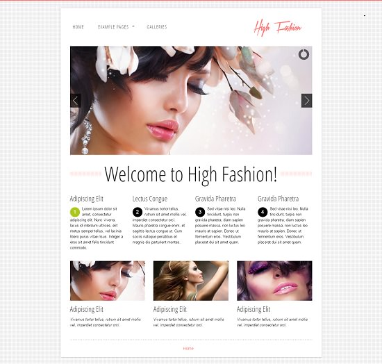 responsive html theme: high fashion screenshot