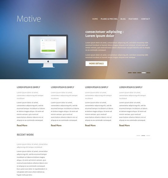 motive business flat responsive web template screenshot