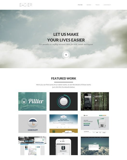 enzyme responsive website/css3 template screenshot