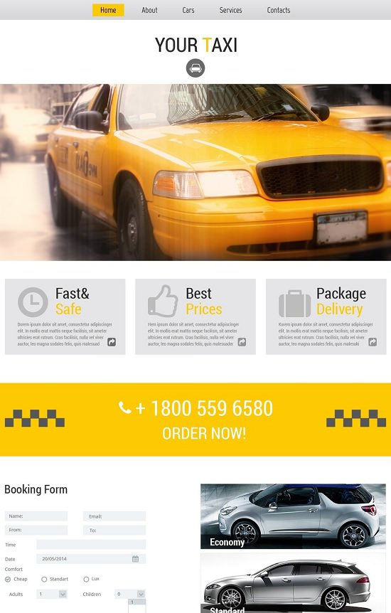 free theme that is website taxi company